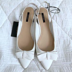 F21 Bowed Slingback Dress Shoe